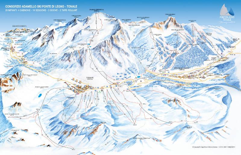 Adamello skimap 2018-19