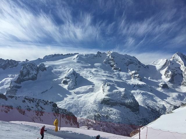 Arabba Itálie lyžování 2018